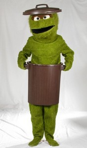 Grouchy Trash Can Monster