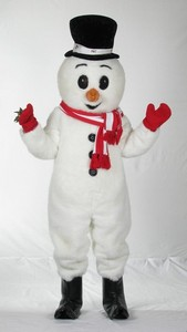 Snowman #1 with scarf